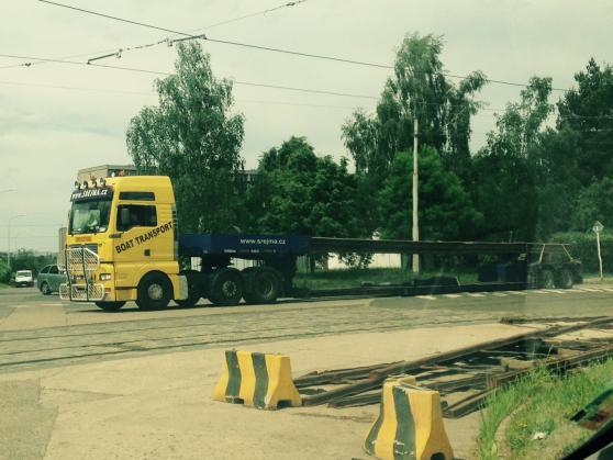 Přeprava kolejnic Praha